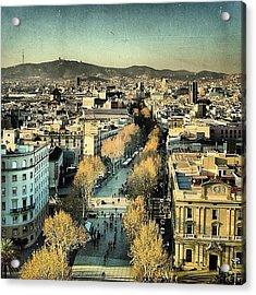 Las Ramblas - Barcelona Acrylic Print