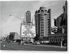 Acrylic Print featuring the photograph Las Vegas 1994 #1 Bw by Frank Romeo