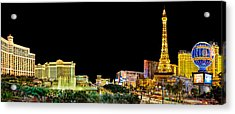 Las Vegas At Night Acrylic Print