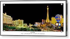 Las Vegas At Night Poster Print Acrylic Print by Az Jackson