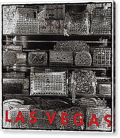 Las Vegas Bling Acrylic Print