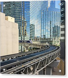 Acrylic Print featuring the photograph Las Vegas Funhouse by Ron Dubin