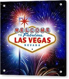 Las Vegas In Optima Forma Acrylic Print
