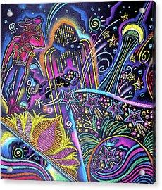 Acrylic Print featuring the painting Las Vegas by Leon Zernitsky