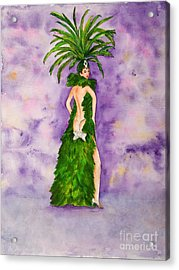 Acrylic Print featuring the painting Las Vegas Show Girl by Vicki  Housel
