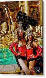 Las Vegas Showgirls Acrylic Print
