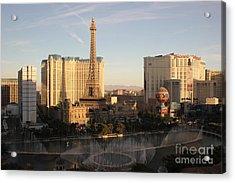 Acrylic Print featuring the photograph Las Vegas Skyline by Wilko Van de Kamp