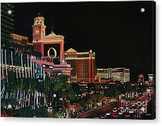Las Vegas Strip Oil On Canvas Painting Acrylic Print
