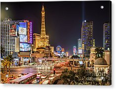 Las Vegas Strip Paris Acrylic Print