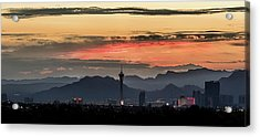 Acrylic Print featuring the photograph Las Vegas Sunrise July 2017 by Michael Rogers