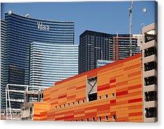 Las Vegas Under Construction Acrylic Print by Susanne Van Hulst