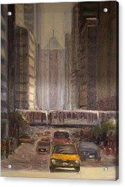 Lasalle Street Acrylic Print