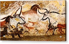 Lascaux Hall Of The Bulls - Deer And Aurochs Acrylic Print