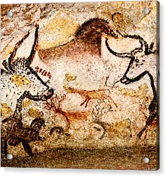 Lascaux Hall Of The Bulls - Deer Between Aurochs Acrylic Print