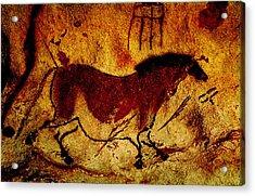 Lascaux Horse Acrylic Print by Asok Mukhopadhyay