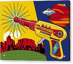 Laser Gun Acrylic Print by Ron Magnes