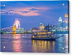 Laser Show Over Paul Brown Stadium  Acrylic Print