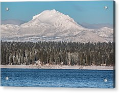 Lassen On Christmas Morning Acrylic Print by Jan Davies