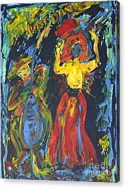 Acrylic Print featuring the painting Last Dance by Barbara Anna Knauf
