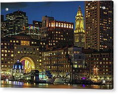 Acrylic Print featuring the photograph Last Glimpse Of Sail Boston by Juergen Roth