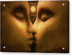 Acrylic Print featuring the photograph Moon Kiss by Jeff  Gettis