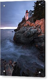 Acrylic Print featuring the photograph Last Light At Bass Harbor by Patrick Downey