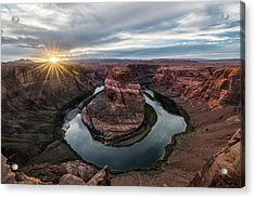 Last Light At Horseshoe Bend Acrylic Print