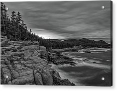 Last Light At Otter Cliff Acrylic Print