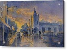 Last Light, High Street At Seventh Acrylic Print by Virgil Carter