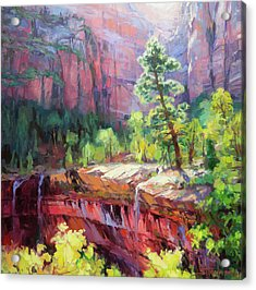 Last Light In Zion Acrylic Print