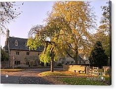 Last Light Lower Slaughter Acrylic Print by Tim Gainey