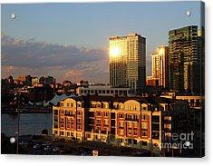 Last Light On Baltimore Harbor East District Acrylic Print