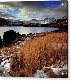 Last Light On Crib Goch Acrylic Print by Peter OReilly