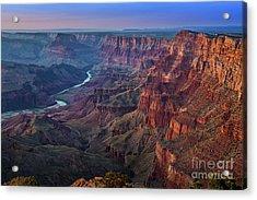 Last Light On The Canyon Acrylic Print by Jamie Pham