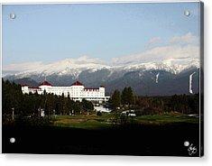 Last Light On The Mount Washington Hotel Acrylic Print