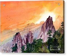 Morning Light On The Mountain Acrylic Print