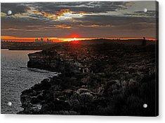 Acrylic Print featuring the photograph Last Light Over North Head Sydney by Miroslava Jurcik