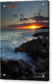 Last Light Over Paradise Acrylic Print by Mike  Dawson