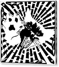 Last Maze The Mouse Sees Acrylic Print by Yonatan Frimer Maze Artist