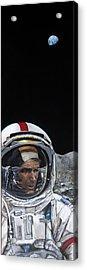 Last Men- Gene Cernan Acrylic Print by Simon Kregar