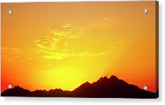 Last Moments Sunset In Africa Acrylic Print