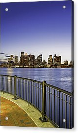 Last Night Sunset In Boston Acrylic Print by Juergen Roth