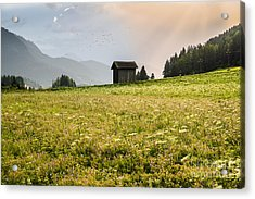Acrylic Print featuring the photograph Last Rays On The Valley by Yuri Santin