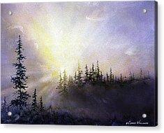 Last Rays Sunset Acrylic Print