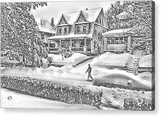 Last Snow For Montclair 2015 Acrylic Print