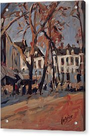 Last Sunbeams Our Lady Square Maastricht Acrylic Print by Nop Briex