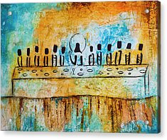 Last Supper Blue Acrylic Print by Ivan Guaderrama