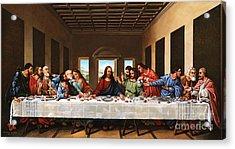 Last Supper Acrylic Print by Michael Nowak