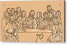 last supper of Jesus Christ Acrylic Print by Aloysius Patrimonio
