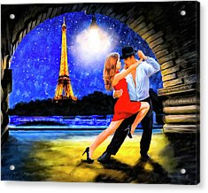 Acrylic Print featuring the mixed media Last Tango In Paris by Mark Tisdale